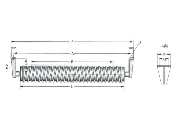DTⅡ型螺旋托辊