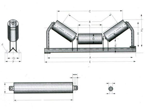DTⅡ型承载托辊